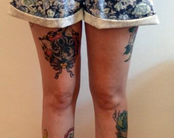 80s Floral Blue-de-da Shorts