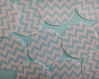 Baby Blue Chevron Herringbone edible image wafer papers for your iced cookies, cake, chocolate and cupcakes
