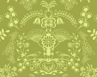 Floralism in Fresh Grass (MO-3804) - MODERNOLOGY by Patricia Bravo - Art Gallery Fabric - By the Yard