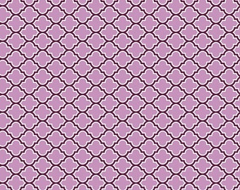 Joel Dewberry - AVIARY 2 - Lodge Lattice in Lilac JD46 - Free Spirit Fabric - By the Yard