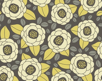 Aviary 2 by Joel Dewberry - Bloom in Granite JD45 - Free Spirit Fabric - By the Yard