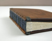 personalized wood wedding guest book  or journal black walnut  - custom engraved nautical rustic brown anniversary gift - made to order