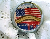 Only 20 cents Free Domestic SHIPPING - Patriotic Picture Mirrored Compact