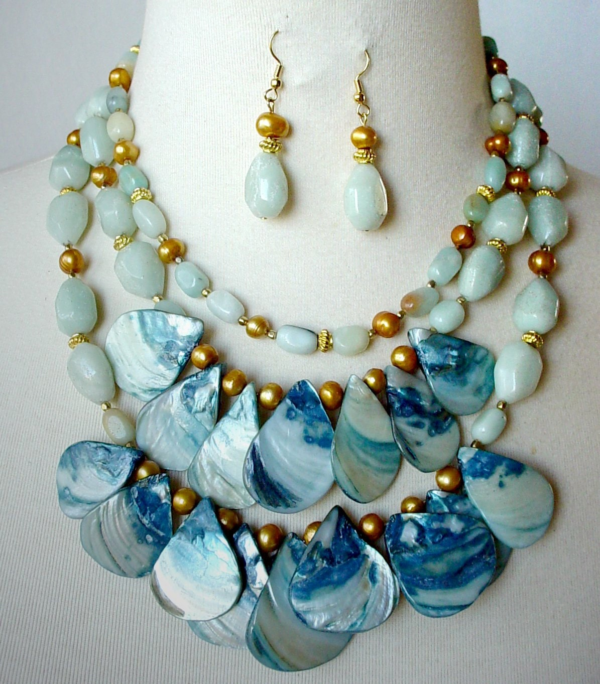 big statement necklace big bold chunky necklace by
