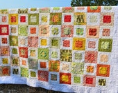 Queen Size Handmade Quilt, Small Plates Multicolor. Not for purchase. Reserved for Sara.