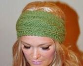 Ear Warmer Crochet Headband Head wrap Earwarmer CHOOSE COLOR Dusty Green Forest Autumn Leave Eco Neutral Nature Gift under 25
