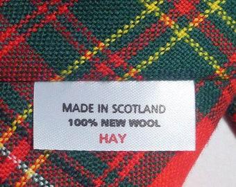 TWO Vintage Tartan PLAID Neckties, Blue n' Red, Red n' Green