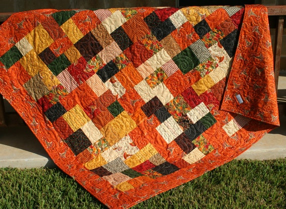Sale Fall Quilt Autumn Throw Fall Give Thanks