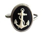 Nautical Anchor Cuff Bracelet
