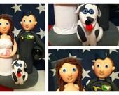 CUSTOM ORDER for Sarah - US Air Force Wedding Cake Topper