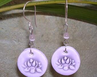 SALE Lotus Blossom Earrings