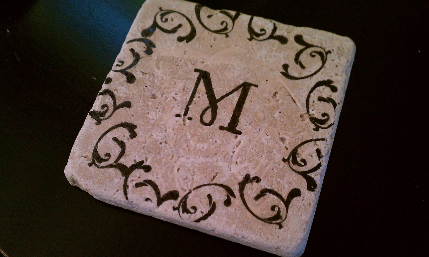 Personalized gift tile coasters 4 x 4 custom for Best coasters for sweaty drinks