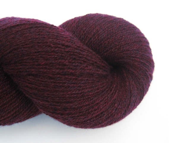 Lace Weight Cashmere Recycled Yarn, Dark Burgundy, 740 Yards