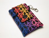 Fabric iPhone 6s Plus Wallet, iPhone 6s Plus Sleeve, Cell phone holder, Phone Pouch, Samsung Galaxy Note 4 Wallet-Peace