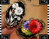 Ring - Reserved 2 flower rings by Veronica Jeong