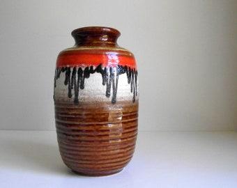 Lava Glaze Vase  7904-20 Tonnieshof West German , Vintage Carstens Pottery Vase , Mid Century Modern Ceramic Art Pottery