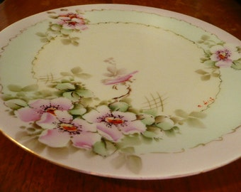 Hand Painted Signed Favorite Bavaria Salad Plate perfect
