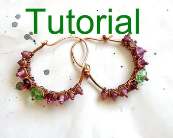 Tutorial : Earrings with glass beads