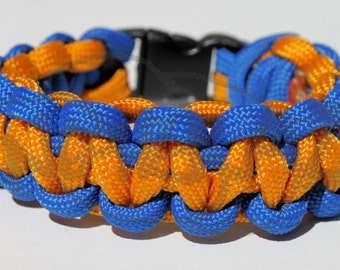 TU Tulsa University Hurricane Inspired 550 Paracord Survival Strap Bracelet Anklet with Buckle