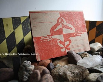 Old Line State or Maryland State flag 3 Pack of Blank Hand Printed Stationery Cards with Envelopes