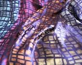 "silk fabric, mosaic pattern silk brocade fabric, one yard by 45"" wide"