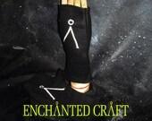 FLEECE Stargate Fingerless Gloves- ready to ship