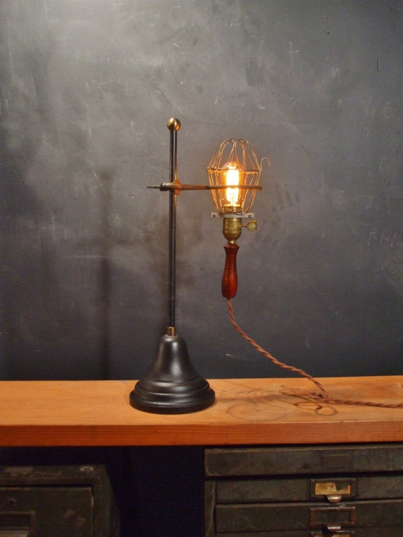 Like this item? & Vintage Industrial Desk Lamp Trouble Light with Lab Stand