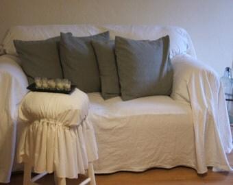 shabby chic sofa slipcover,throw