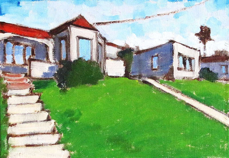 Houses in Hillcrest- San Diego Paintings