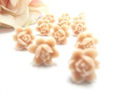 SIX  PAIRS Light Pink floral Posts Earrings 60 Dollars-Feminine Pretty- weddings, bridal party - 4TasteofShabbyChic