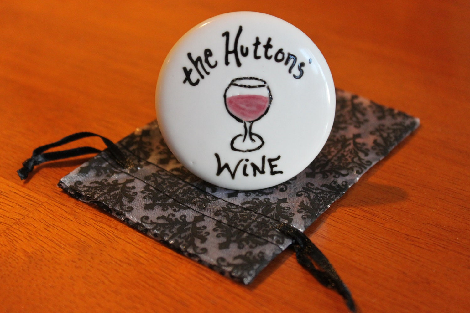 Custom Wine Stopper Personalized Wine Stopper by ArtSmithStudio