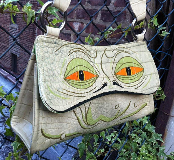 Star Wars: Jabba the Hutt purse. Upcycled and hand painted vintage purse.