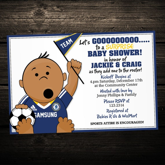 PRINTABLE INVITATION: Soccer Sports Tailgate Baby Shower or
