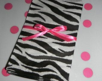 Zebra Print Candy Bags - Set of 20