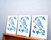block art print- bird on branch