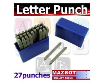 Metal Stamps Steel Letter Punch Set 2mm Dots Uppercase 27pcs - LP2345L