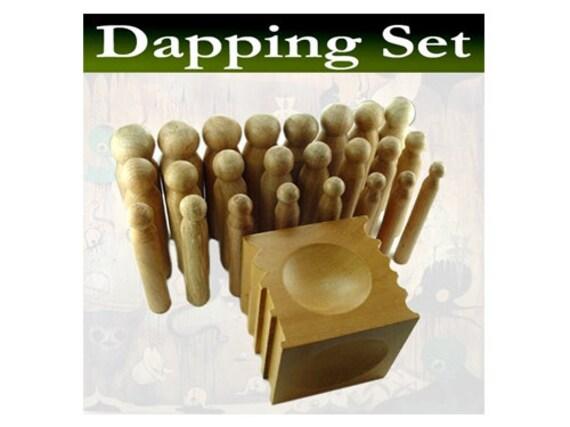 24 punch Mazbot WOODEN dapping set - DPS03