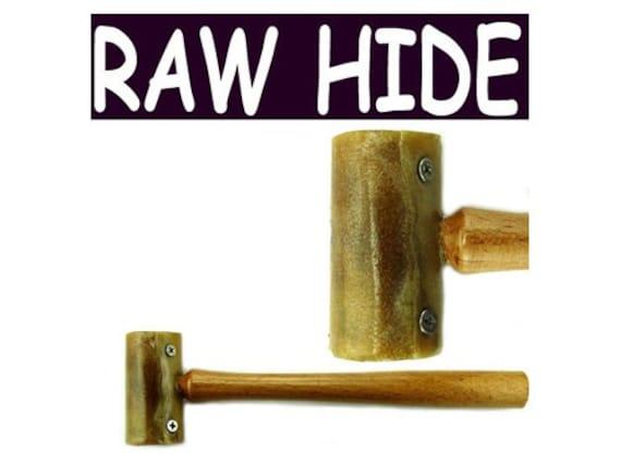 7in Mazbot Leather Rawhide Hammer  -   RH01