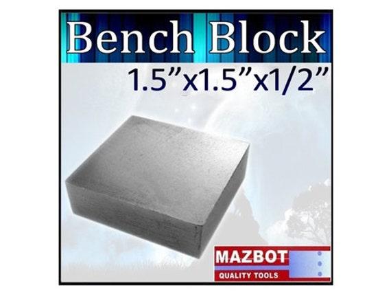 """Mazbot 1.5""""x1.5""""x1/2"""" Steel Bench Block - SPB07"""