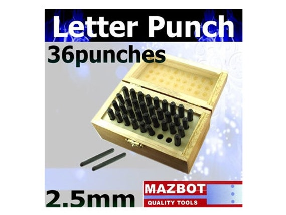 2.5mm Mazbot Letter Number Punch Tool Set  - LP2345W25
