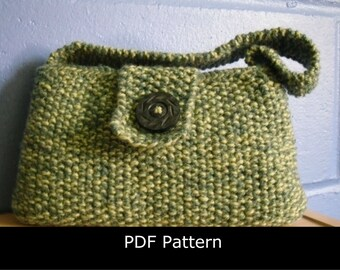 Knitting Pattern, Evening Bag. Knitted Evening Bag