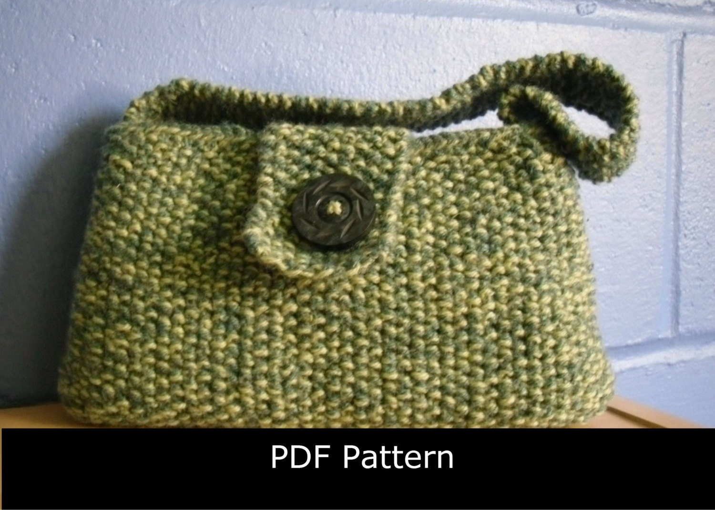 Knitting Pattern Evening Bag. Knitted Evening Bag