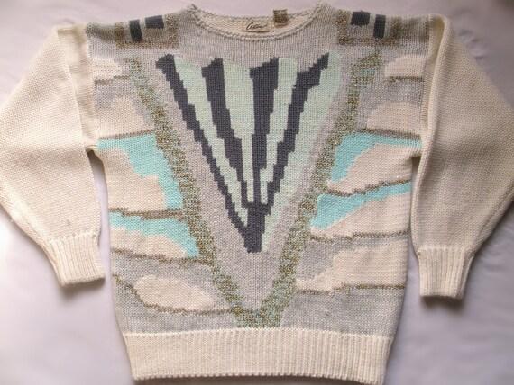Vintage Ugly Sweater - Warrior of Pastel Island