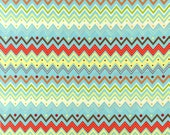 Zoo Babies Multi Chevron - Fabric - Cotton Quilting BTY