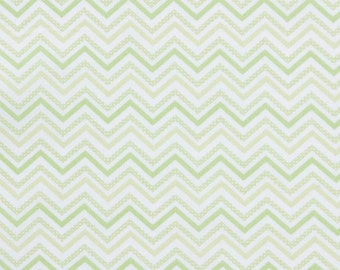 Decorative Chevron - Green - Small Chevron - Fat Quarter
