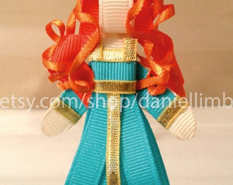 ribbon sculpture disney inspired princess clips or headband (price is for 2)