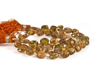 AAA Incredible Andalusite Faceted Teardrops - 69 PIECES