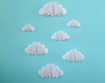 3D Paper Wall Clouds - 3D Paper Wall Art/Wall Decor/Wall Decals