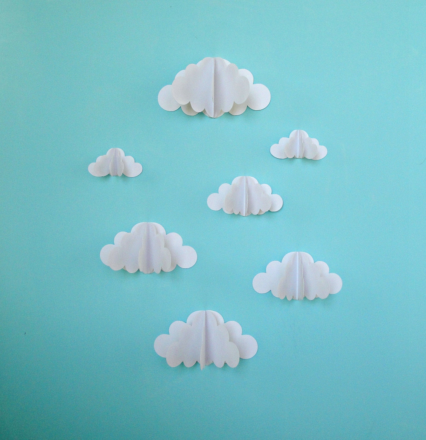 3D Paper Wall Clouds 3D Paper Wall Art/Wall Decor/Wall