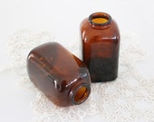 Vintage Brown Glass Snuff Bottles - BailiwickVintage